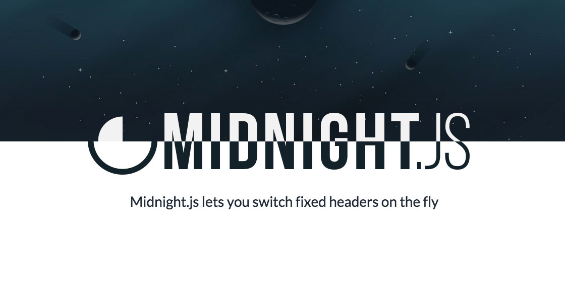 Midnight JS - Switching Header on Page Scroll | Pixel Hours